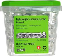 ESSVE CorrSeal TX30 Lättbetongskruv 8,0x200mm, 50-pack