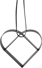 Stelton Figura ornament, hjerte, liten soft black 5cm