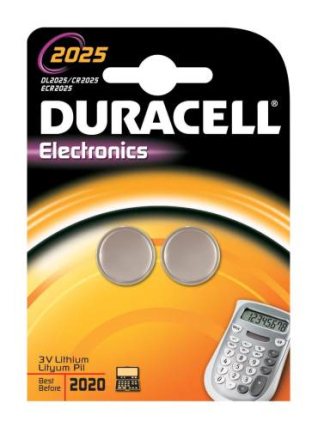 Duracell Electronics CR2025 Lithium Batteri - 2 stk.