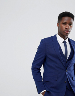 Burton Menswear Slim Fit Suit Jacket In Bright Blue