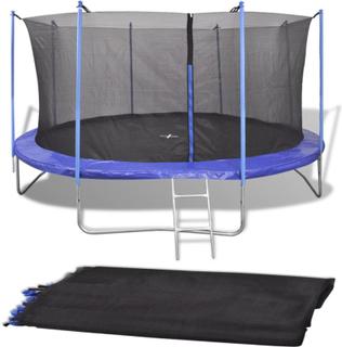 vidaXL sikkerhedsnet PE sort til 4,57 m rund trampolin