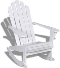 vidaXL Gungstol för trädgården trä vit