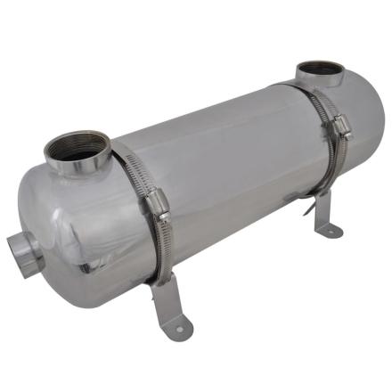 vidaXL Pool Varmeveksler 485 x 134 mm 60 kW