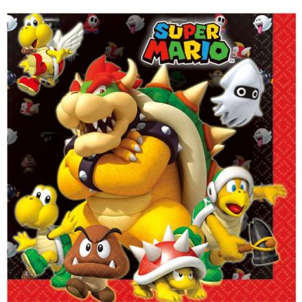 Super Mario - Servietter 16pk