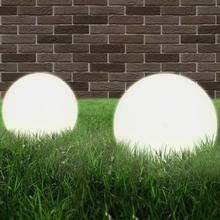 vidaXL LED-kuglelamper 2 stk. kugleformet 20 cm PMMA