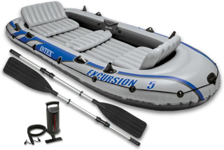 Intex Excursion 5 oppustelig gummibåd med årer og pumpe 68325NP