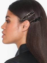 Only Onlcrocodile 2 Pack Hairclip Svart