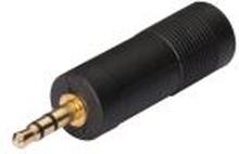 Adapter 3.5mm hane - 6.3mm stereo hona