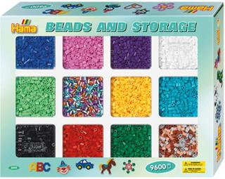 Hama Midi beads and storage 9600 pcs