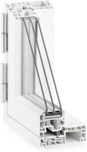PVC Dobbelt utadslående og sidehengslet vindu