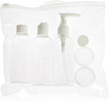 Reisesett flasker for kosmetikk til fly