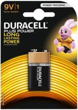 Duracell Plus 9V Alkaline Batteri - 1 stk.