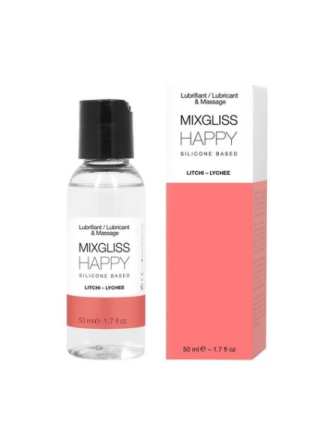 Mixgliss 2-in-1 Silicone Fluid Massage and Lubricant 50ml Happy
