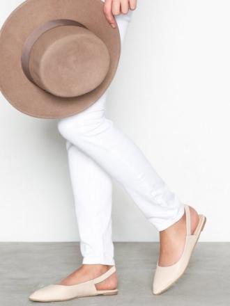 Ballerina - Beige NLY Shoes Slingback Strap Ballerina
