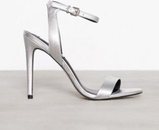 Steve Madden Landen High Heel Sandal Low Heel Silver