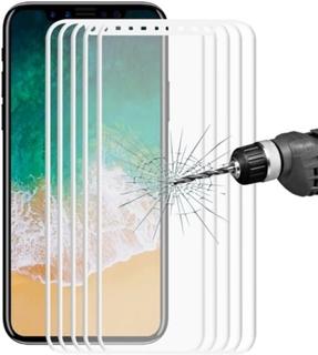 Heltäckande 3D displayskydd i härdat glas till iPhone X/XS/11 Pro, 5-Pack, Vit