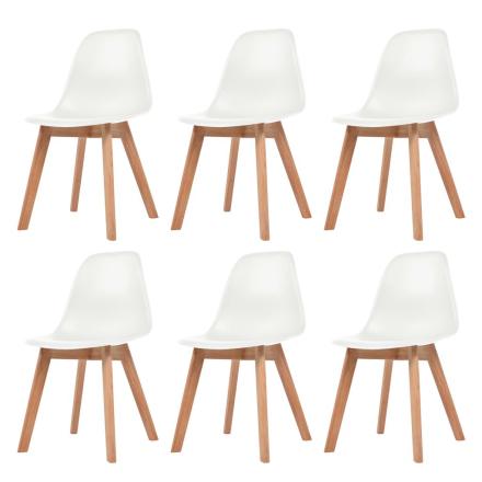 vidaXL spisebordsstole 6 stk. hvid
