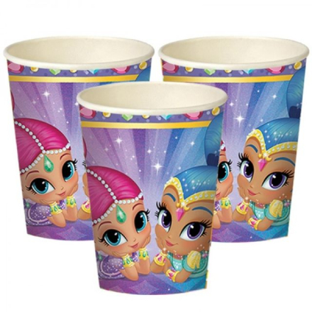 Shimmer & Shine - Pappbeger 8pk