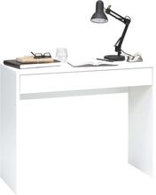 FMD Skrivbord med bred låda 100x40x80 cm vit