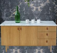 Dagny Sideboard B150 cm - Vit marmor / Ek