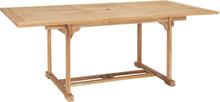 vidaXL forlængeligt havebord (150-200) x 100 x 75 cm massivt teaktræ