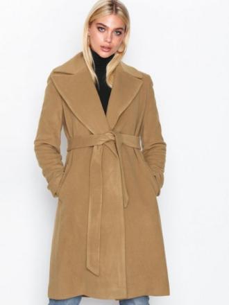 Lauren Ralph Lauren Solid Wl Wrp-Coat Kappor Medium Beige