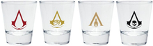 Assassin's Creed - Embleme -Sett med shotglass - transparent