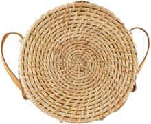PIECES Straw Crossbody Bag Kvinna Beige