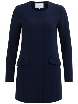 VILA Simple Spring Jacket Women Blue