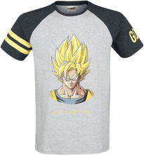 Dragon Ball - Z - Son Goku -T-skjorte - grå, sort, gul
