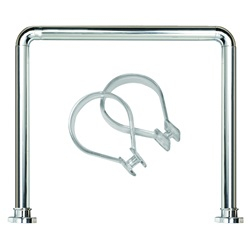 Sealskin U-Shaped Rod Set Seallux + 12 Rings Chrome 13276668918