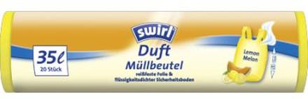 SWIRL Swirl Avfallspåse Citrus med doft 35 L, 20 st 97830SWL Replace: N/ASWIRL Swirl Avfallspåse Citrus med doft 35 L, 20 st