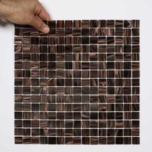 Nordic Kakel Glasmosaik 32,7X32,7-Brun/Guld