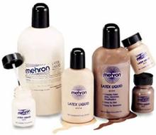 LIGHT Flesh Liquid Latex med Kost 30 ml Mehron Flytende Latex