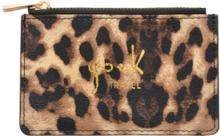 Card holder Leopard Unique brown