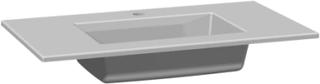 Dansani Edge møbelvask, 80 cm, hvid