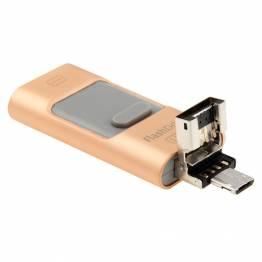 iPhone USB stik 32GB med Lightning, USB og MicroUSB
