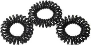 Pieces Spiral Rubber Bands Black 10 Pieces US