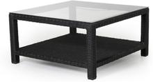 Ninja soffbord Svart med glastopp 90x90 cm