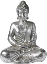 Siddende Buddha - Sølvfarvet