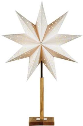Markslöjd Solvalla Bordstjerne, 65 cm, E14, Hvid/egetræ