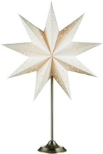 Markslöjd Solvalla Bordsstjerne, 64 cm, E14, Hvid/satin