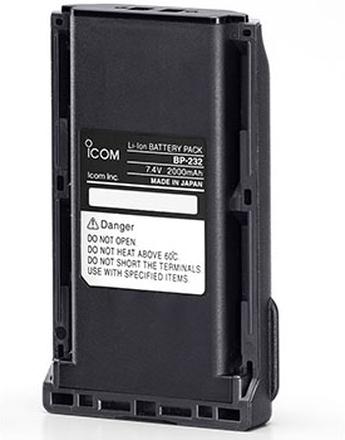 Icom Batteri BP-232H Li-Ion 7,4V 2300mAh