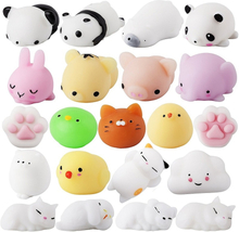 Soft Cute Mini Animal Antistress Ball Squeeze Toys Squishi Mochi Rising Stress Relief Squishy Toy Sticky Eliminate Pets Fun Gift