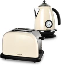 Aquavita Frukostset Creme   Vattenkokare   Toaster   creme