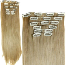 Honey Blonde Clip on Löshår billigt - 60cm långt / 28cm bred