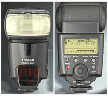 Flash/blitz Canon Speedlite 580EX Sort