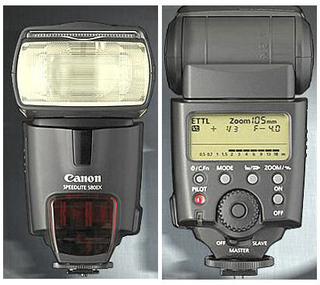 Flash/blitz Canon Speedlite 580EX Sort