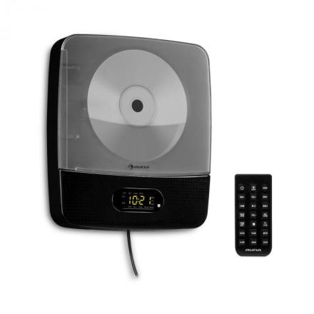 Vertiplay CD-spelare Bluetooth nattlampa FM-radio AUX digitalklocka svart