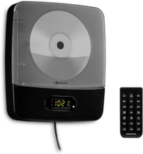 Vertiplay CD-spelare Bluetooth nattlampa FM-radio AUX digitalklocka svart